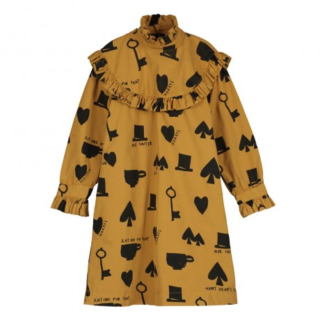 BEAU LOVES / Collar Dress / Wonderland AOP / Dark Camel