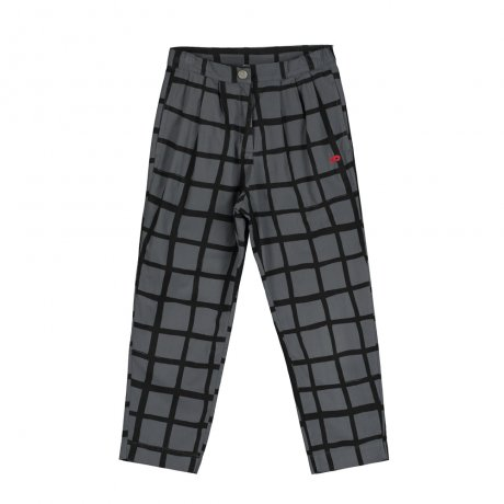 BEAU LOVES / Carrot Pants / Grid AOP / Charcoal