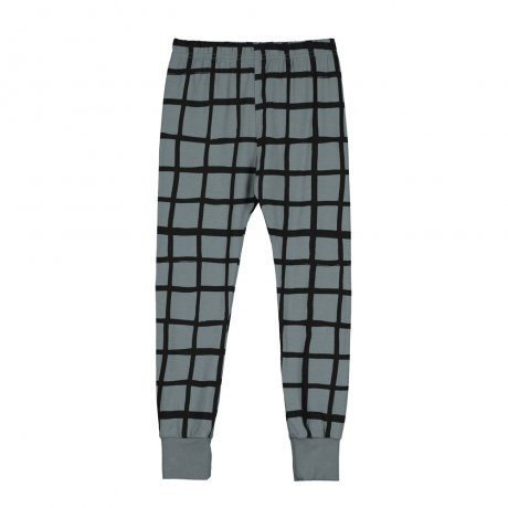 BEAU LOVES / Slim Pants with Cuffs / Grid AOP / Charcoal