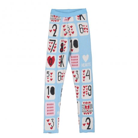 BEAU LOVES / Slim Knit Pants / Game Of Hearts Jacquard / Sky