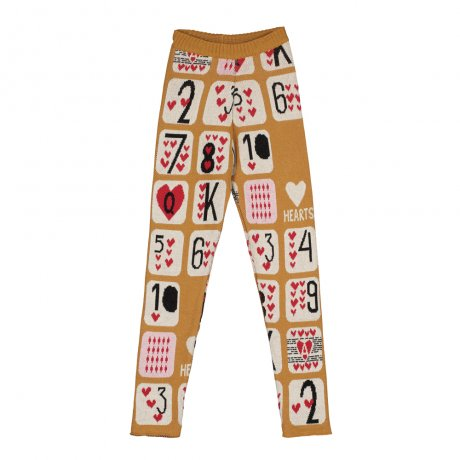 BEAU LOVES / Slim Knit Pants / Game Of Hearts Jacquard / Dark Camel