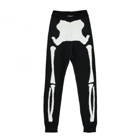 <img class='new_mark_img1' src='https://img.shop-pro.jp/img/new/icons8.gif' style='border:none;display:inline;margin:0px;padding:0px;width:auto;' />BEAU LOVES / Knit Tracked Suit Pants / Jacquard Skeleton / Black