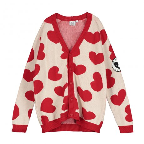BEAU LOVES / Knit Cardigan / Hearts Jacquard / Natural