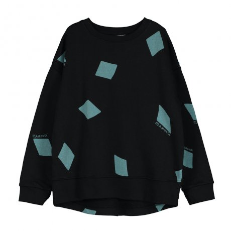 <img class='new_mark_img1' src='https://img.shop-pro.jp/img/new/icons8.gif' style='border:none;display:inline;margin:0px;padding:0px;width:auto;' />BEAU LOVES / Relaxed Fit Sweater / Diamonds AOP / Black