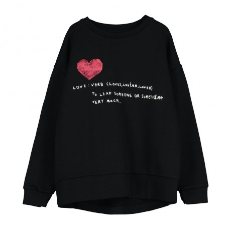 BEAU LOVES / Relaxed Fit Sweater / Placement 'Love Verb