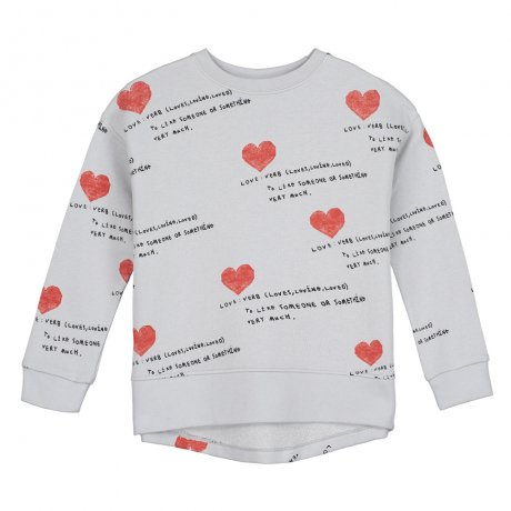<img class='new_mark_img1' src='https://img.shop-pro.jp/img/new/icons8.gif' style='border:none;display:inline;margin:0px;padding:0px;width:auto;' />BEAU LOVES / Relaxed Fit Sweater / I Heart You AOP / Quiet Grey