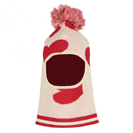 BEAU LOVES / Knit Balaclava / Hearts Jacquard / Natural