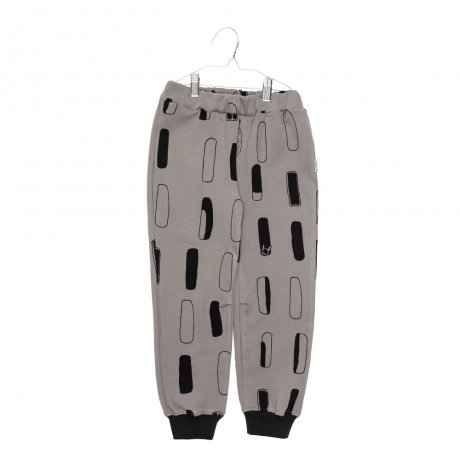 MOTORETA / PARIS PANTS / Taupe & black windows print / AW190092