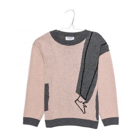 <img class='new_mark_img1' src='https://img.shop-pro.jp/img/new/icons8.gif' style='border:none;display:inline;margin:0px;padding:0px;width:auto;' />MOTORETA / LISBON SWEATER / Light pink, grey & black / AW19B070(Baby)