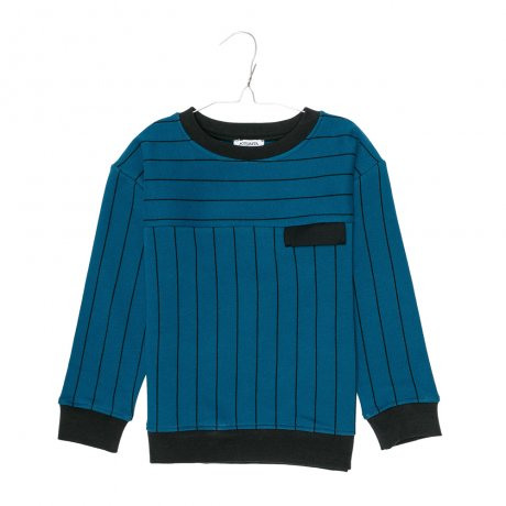 MOTORETA / BOSTON SWEATSHIRT / Blue & black stripes / AW190054