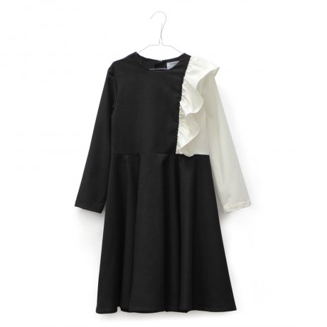 MOTORETA / ALICE DRESS / Black & white / AW190022