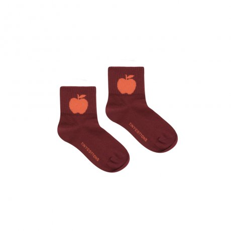 tinycottons / APPLE MEDIUM SOCKS / aubergine red / AW19-358