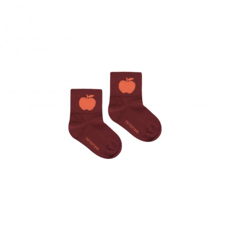 <img class='new_mark_img1' src='https://img.shop-pro.jp/img/new/icons8.gif' style='border:none;display:inline;margin:0px;padding:0px;width:auto;' />tinycottons / APPLE MEDIUM SOCKS / aubergine red / AW19-357