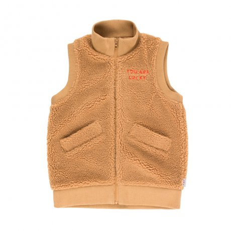 <img class='new_mark_img1' src='https://img.shop-pro.jp/img/new/icons8.gif' style='border:none;display:inline;margin:0px;padding:0px;width:auto;' />[2nd] tinycottons / SHERPA LONG VEST / brown / AW19-307