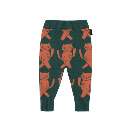<img class='new_mark_img1' src='https://img.shop-pro.jp/img/new/icons8.gif' style='border:none;display:inline;margin:0px;padding:0px;width:auto;' />tinycottons / CATS PANT / bottle green dark brown / AW19-257