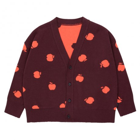 <img class='new_mark_img1' src='https://img.shop-pro.jp/img/new/icons8.gif' style='border:none;display:inline;margin:0px;padding:0px;width:auto;' />tinycottons / APPLES CARDIGAN / aubergine red / AW19-252