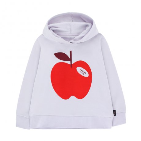<img class='new_mark_img1' src='https://img.shop-pro.jp/img/new/icons8.gif' style='border:none;display:inline;margin:0px;padding:0px;width:auto;' />tinycottons / APPLE HOODY SWEATSHIRT / light lilac burgundy / AW19-121