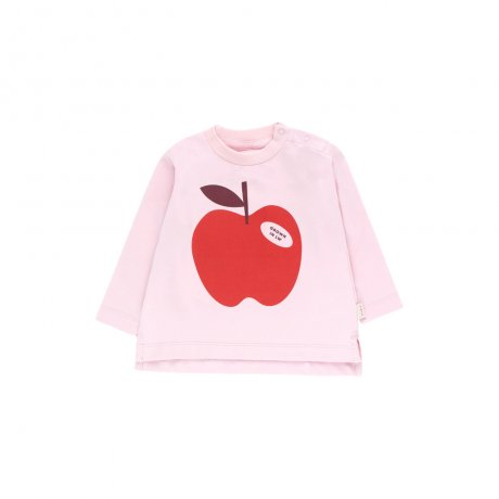 <img class='new_mark_img1' src='https://img.shop-pro.jp/img/new/icons8.gif' style='border:none;display:inline;margin:0px;padding:0px;width:auto;' />tinycottons / APPLE LS TEE / pale pink burgundy / AW19-040