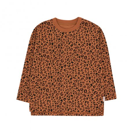 tinycottons / ANIMAL PRINT LS TEE / brown dark brown / AW19-021