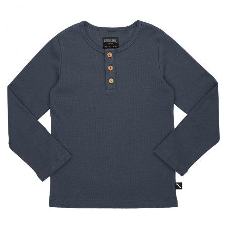 <img class='new_mark_img1' src='https://img.shop-pro.jp/img/new/icons8.gif' style='border:none;display:inline;margin:0px;padding:0px;width:auto;' />CarlijnQ / henley longsleeve (with 3 buttons / grey / rib) / Basics / BS111