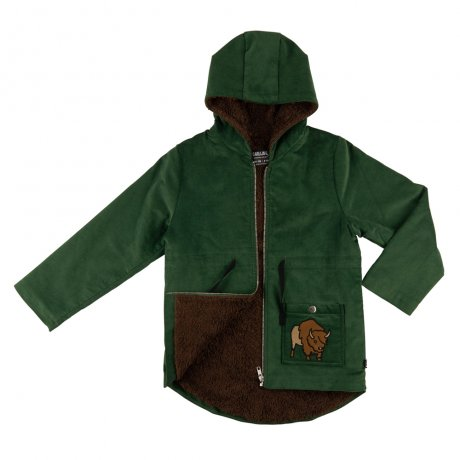 <img class='new_mark_img1' src='https://img.shop-pro.jp/img/new/icons8.gif' style='border:none;display:inline;margin:0px;padding:0px;width:auto;' />CarlijnQ / Parka (with bison embroidery) / Bison / BI18