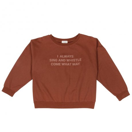 <img class='new_mark_img1' src='https://img.shop-pro.jp/img/new/icons8.gif' style='border:none;display:inline;margin:0px;padding:0px;width:auto;' />THE CAMPAMENTO / BROWN SING AND WHISTLE SWEATSHIRT / TC-AW13