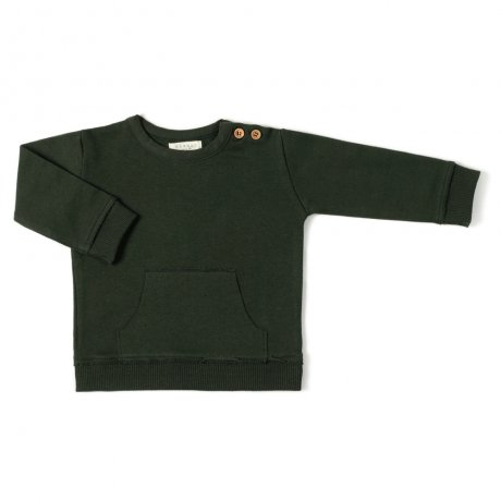 <img class='new_mark_img1' src='https://img.shop-pro.jp/img/new/icons8.gif' style='border:none;display:inline;margin:0px;padding:0px;width:auto;' />nixnut / Kangaroo Sweater / Deep Moss