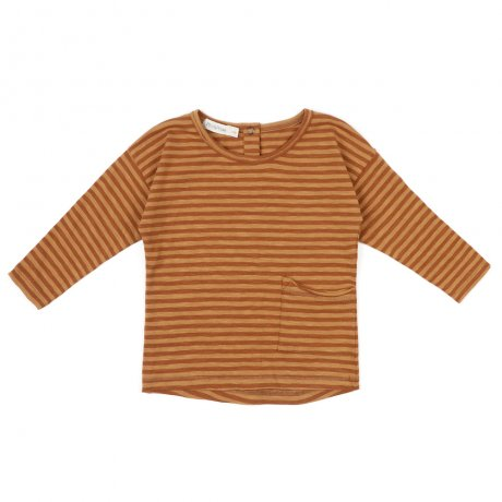 Phil&Phae / Raw-edged top stripe L/S / 193108 / Golden spice