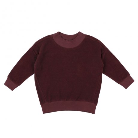 <img class='new_mark_img1' src='https://img.shop-pro.jp/img/new/icons8.gif' style='border:none;display:inline;margin:0px;padding:0px;width:auto;' />Phil&Phae / Oversized frotte sweater / 193113 / Aubergine