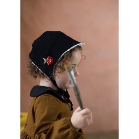 <img class='new_mark_img1' src='https://img.shop-pro.jp/img/new/icons8.gif' style='border:none;display:inline;margin:0px;padding:0px;width:auto;' />popelin / reversible bonnet / Black / Mod.33.4