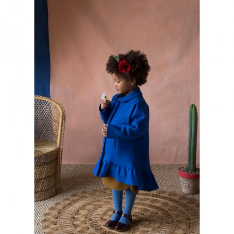 popelin / coat with frill / Blue / Mod.31.2