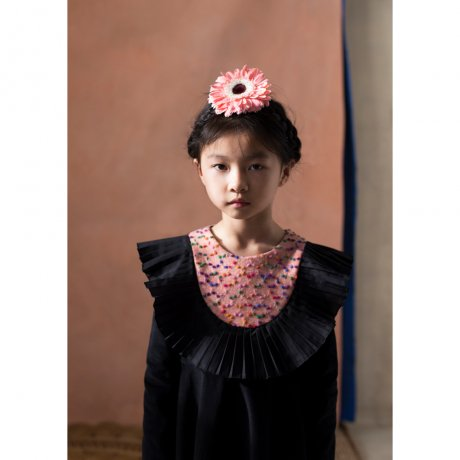 <img class='new_mark_img1' src='https://img.shop-pro.jp/img/new/icons8.gif' style='border:none;display:inline;margin:0px;padding:0px;width:auto;' />popelin / pleated frill dress / Black / Mod.24.3
