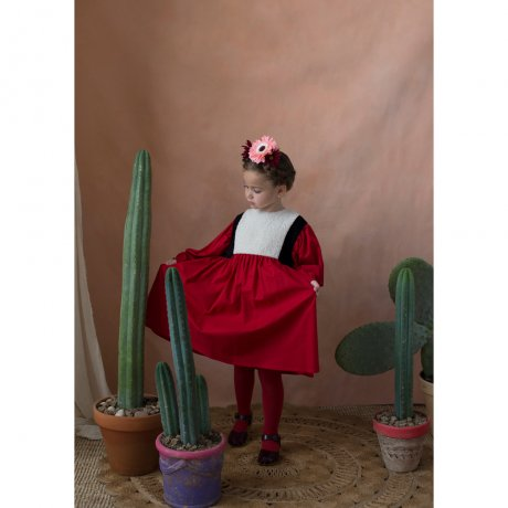 <img class='new_mark_img1' src='https://img.shop-pro.jp/img/new/icons8.gif' style='border:none;display:inline;margin:0px;padding:0px;width:auto;' />popelin / waistcoat dress / Red / Mod.21.1