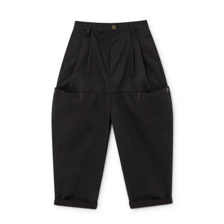 <img class='new_mark_img1' src='https://img.shop-pro.jp/img/new/icons8.gif' style='border:none;display:inline;margin:0px;padding:0px;width:auto;' />[3rd] little creative factory / Wax Pants / Black / K073B
