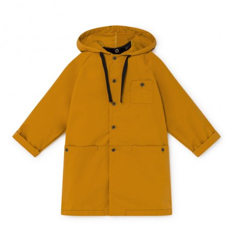 little creative factory / Wax Hooded Coat / Ochre / K007A