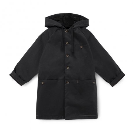 <img class='new_mark_img1' src='https://img.shop-pro.jp/img/new/icons8.gif' style='border:none;display:inline;margin:0px;padding:0px;width:auto;' />[2nd] little creative factory / Wax Hooded Coat / Black / K007B