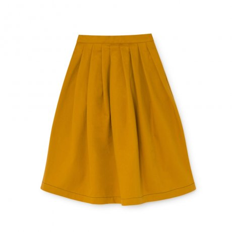 little creative factory / Pleated Wax Skirt / Ochre / K062A