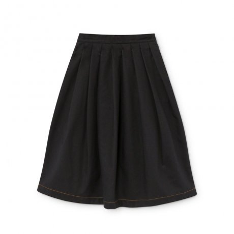little creative factory / Pleated Wax Skirt / Black / K062B