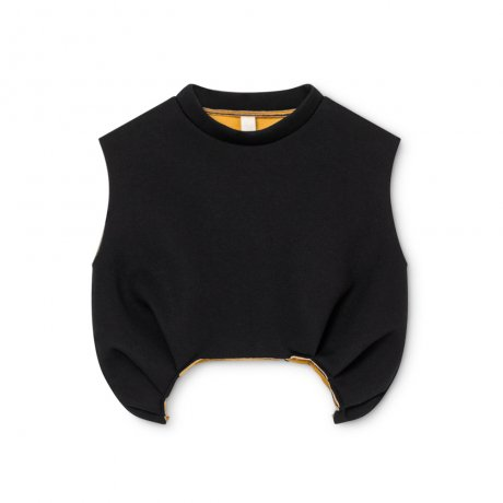 <img class='new_mark_img1' src='https://img.shop-pro.jp/img/new/icons8.gif' style='border:none;display:inline;margin:0px;padding:0px;width:auto;' />little creative factory / Neoprene Tank-Top / Black / K041