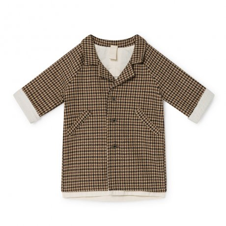 <img class='new_mark_img1' src='https://img.shop-pro.jp/img/new/icons8.gif' style='border:none;display:inline;margin:0px;padding:0px;width:auto;' />[2nd] little creative factory / Baby Tweed Straight Coat / Fawn / B004