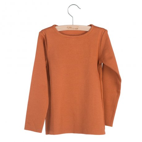 little HEDONIST / Longsleeve Elana / Chili Oil-Pumpkin Spice striped