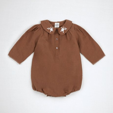 <img class='new_mark_img1' src='https://img.shop-pro.jp/img/new/icons8.gif' style='border:none;display:inline;margin:0px;padding:0px;width:auto;' />Apolina Kids / Baby / SANDIE ROMPER / NUT