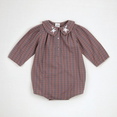 <img class='new_mark_img1' src='https://img.shop-pro.jp/img/new/icons8.gif' style='border:none;display:inline;margin:0px;padding:0px;width:auto;' />Apolina Kids / Baby / SANDIE ROMPER / AUTUMN CHECK
