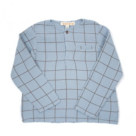 <img class='new_mark_img1' src='https://img.shop-pro.jp/img/new/icons8.gif' style='border:none;display:inline;margin:0px;padding:0px;width:auto;' />Omibia / KIDS FREDDIE Shirt / Ice Blue + Square / AW19W09