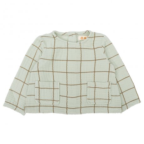 Omibia / BABY BAILEY Top / Light Green + Square / AW19W03