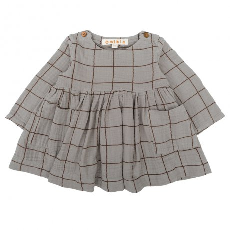 Omibia / BABY CASSIMA Dress / Seal Grey + Square / AW19W01
