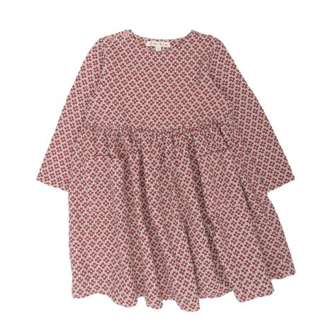<img class='new_mark_img1' src='https://img.shop-pro.jp/img/new/icons8.gif' style='border:none;display:inline;margin:0px;padding:0px;width:auto;' />Omibia / KIDS CASSIMA Dress / Misty Pink + Cubic / AW19W01