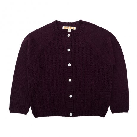 <img class='new_mark_img1' src='https://img.shop-pro.jp/img/new/icons8.gif' style='border:none;display:inline;margin:0px;padding:0px;width:auto;' />Omibia / KIDS PIA Cardigan / Dark Cherry / AW19TR31