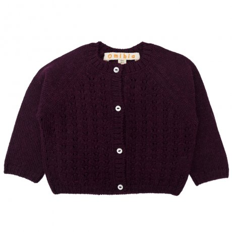 <img class='new_mark_img1' src='https://img.shop-pro.jp/img/new/icons8.gif' style='border:none;display:inline;margin:0px;padding:0px;width:auto;' />Omibia / BABY PIA Cardigan / Dark Cherry / AW19TR31