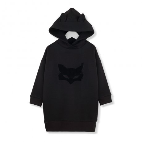 KIDS ON THE MOON / BLACK FOX MASK SWEATDRESS / AW19/15
